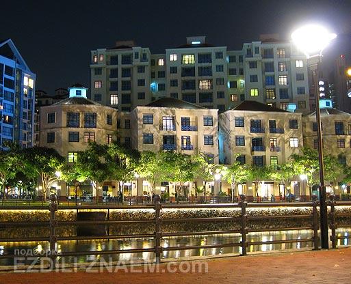 Мягкие вечерние краски в Сингапуре