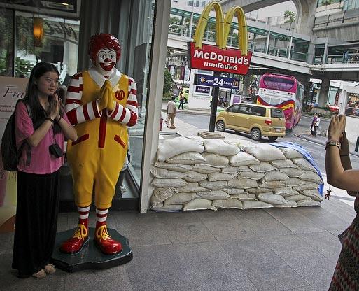 В центре Бангкока наводнения нет