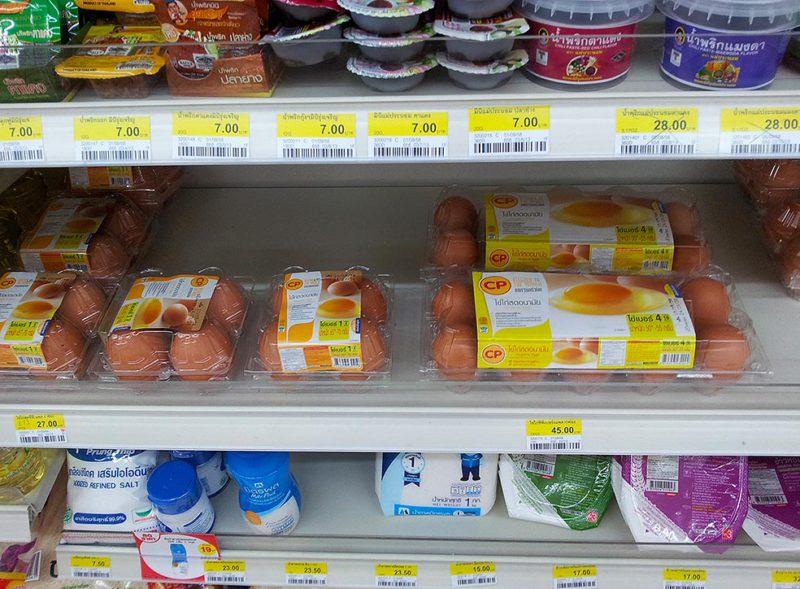 Цены в магазине 7-11, Таиланд