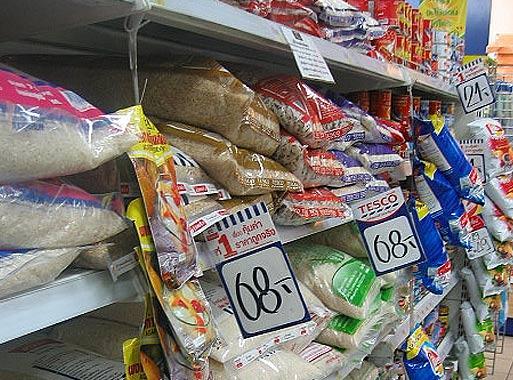 Цены на еду в Тайланде. Рис в супермаркетах