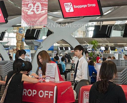 Авиаперелет AirAsia в Тайланде. Новые правила регистрации багажа
