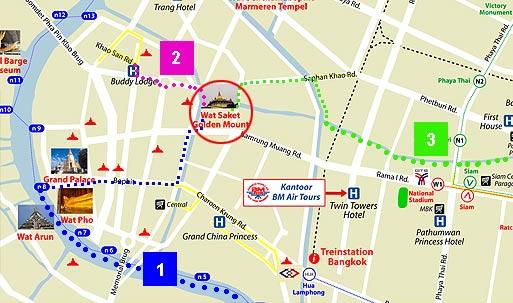 Бангкок: как доехать в Храм Ват Сакет