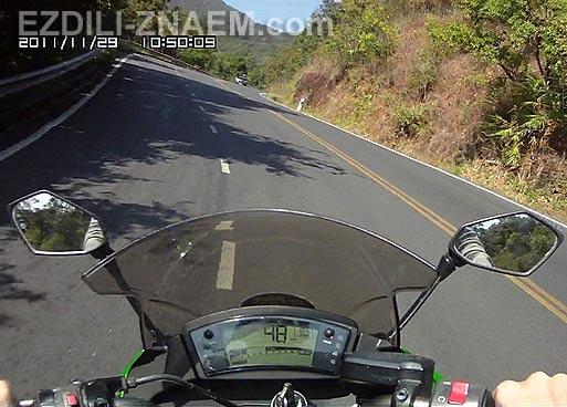 Аренда мотоцикла Кавасаки Нинзя в Чианг Мае. Тайланд. Заезд на Дои Сутеп