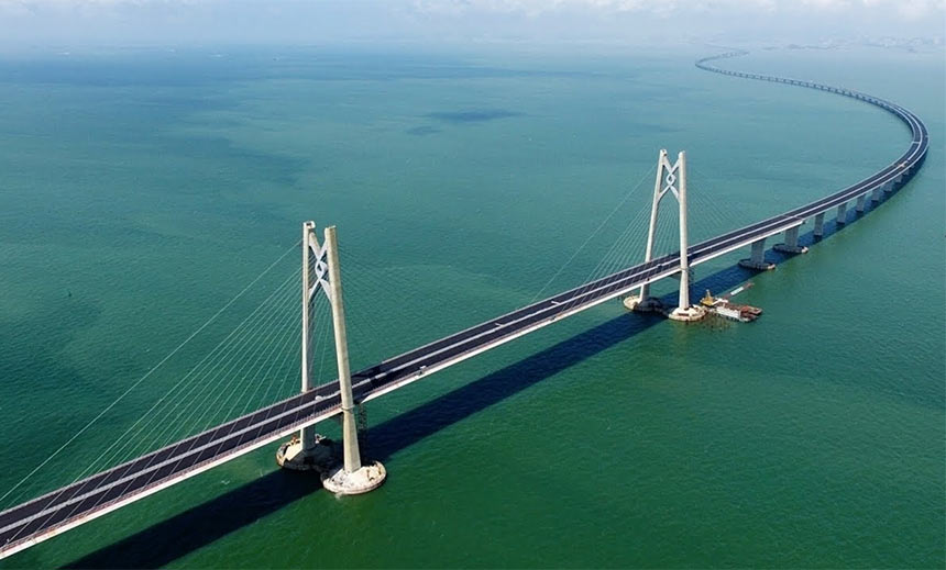 Морской мост Гонконг - Макао - Китай