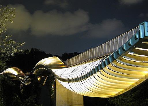 Необычный мост в Сингапуре