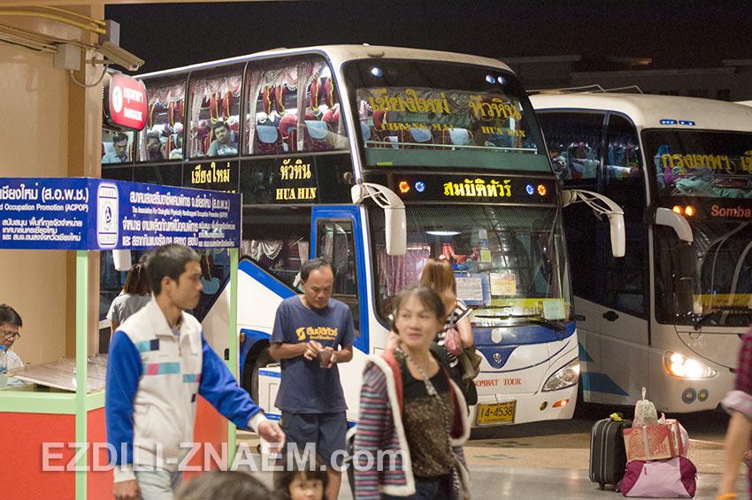ночной автобус Чианг Май - Хуа Хин