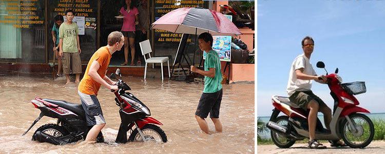 Особенности аренды мотобайка на островах Тайланда