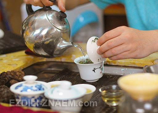 Гуанчжоу. Как заваривают китайский чай улун
