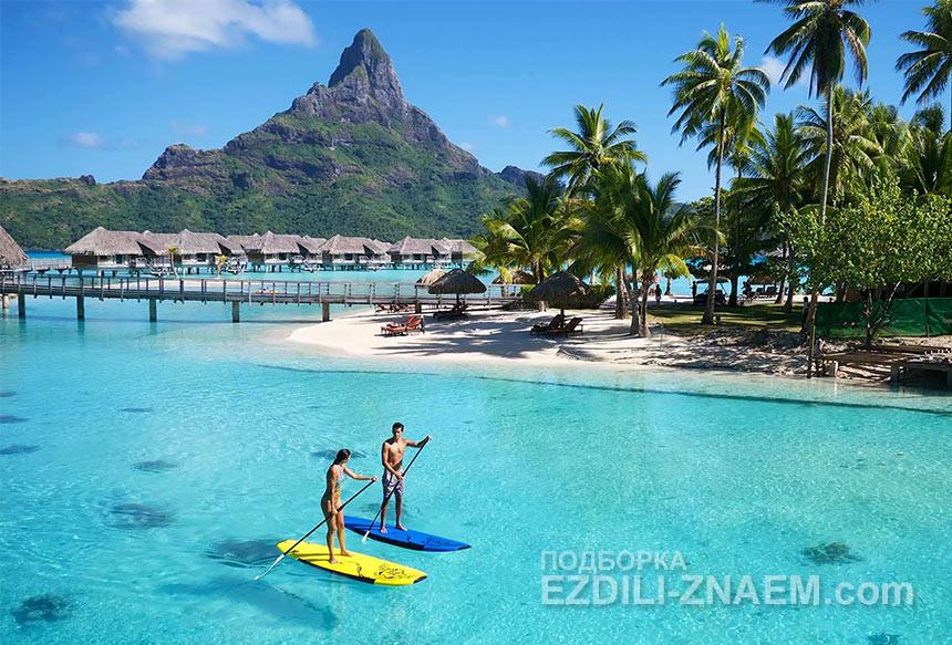 Острова Бора Бора выглядят райским уголком