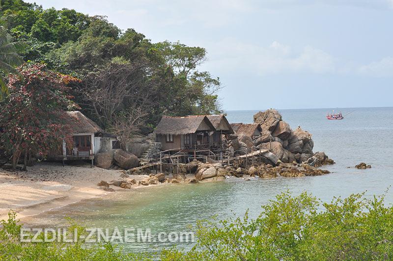бунгало на пляже Haad Tien на острове Панган