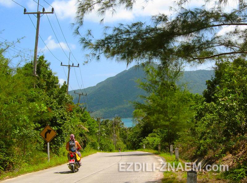 дороги на Ко Панган не самые приятные в Тайланде