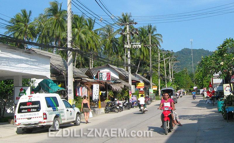 улица в деревне Тонсала на острове Панган