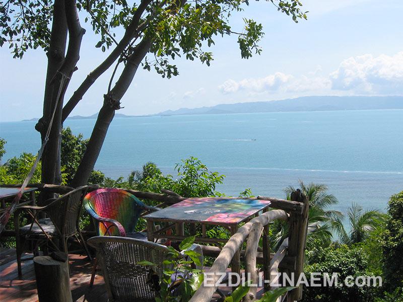 вид на остров Самуи с острова Панган. Тайланд