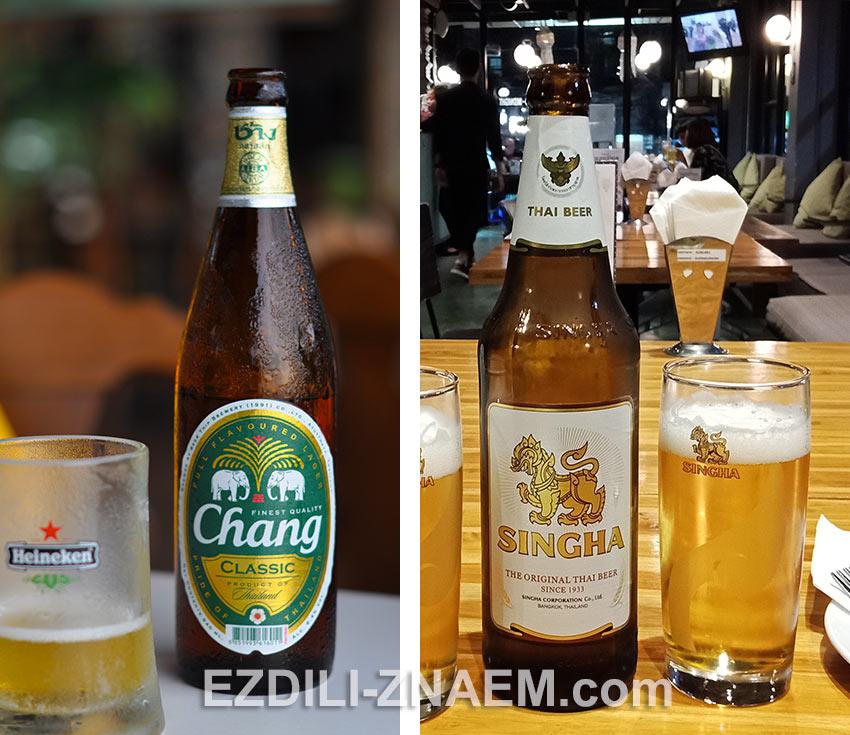"""""""Чанг"""" и """"Синга"""" - самое популярное пиво в Таиланде"""
