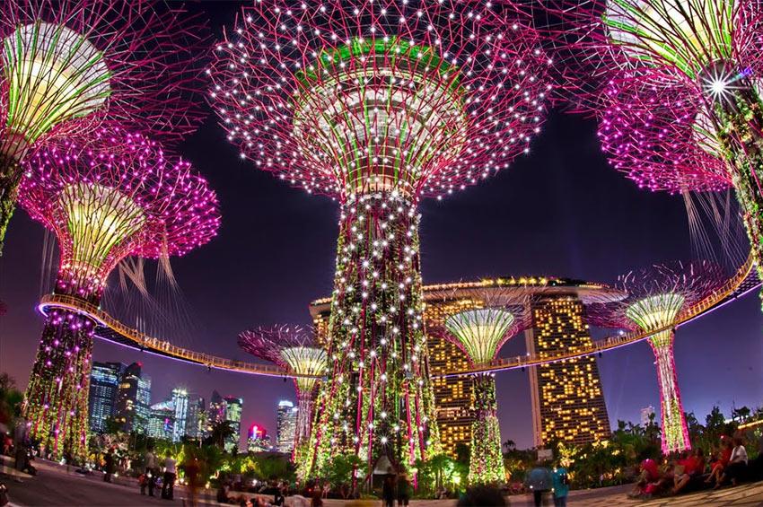 """Парк деревьев """"Garden by the Bay"""" в Сингапуре"""