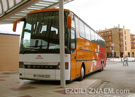 Автобус из Тосса де Мар до Барселоны. Испания