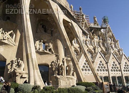 Достопримечательность Барселоны: храм Святого Семейства