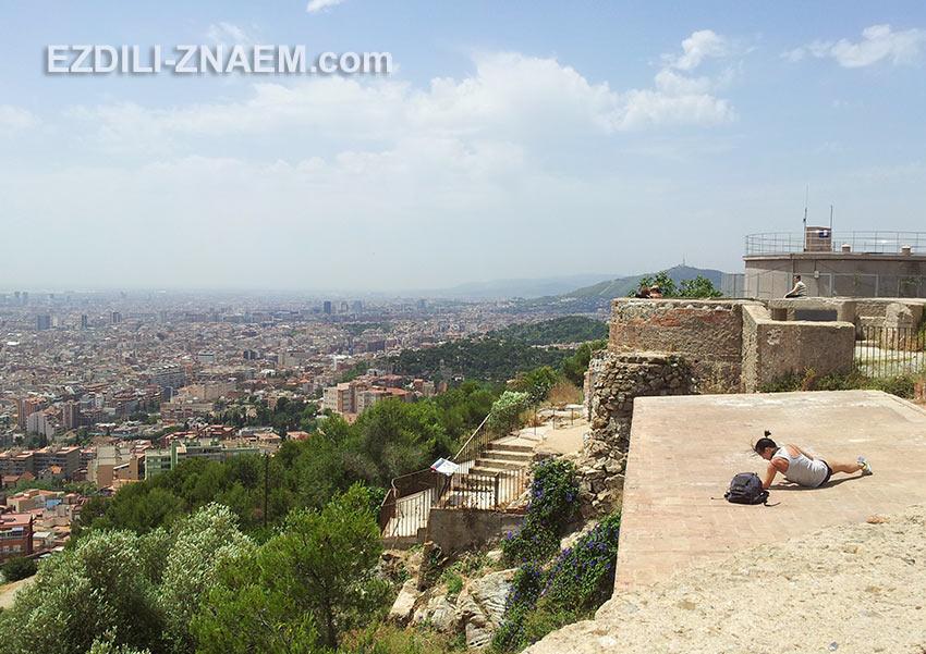 площадка на горе Guinardo - нетуристическое место Барселоны