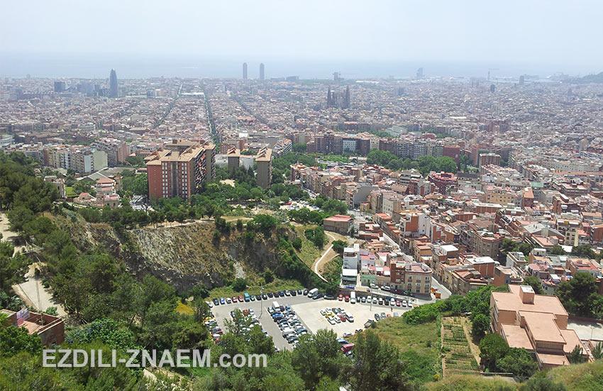 вид на Барселону с обзорной площадки