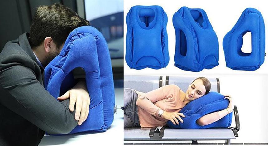 Странная, но удобная подушка для сна в самолете