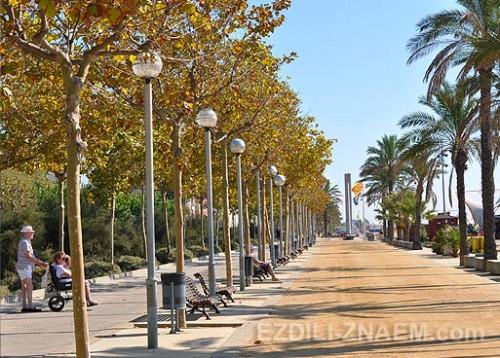 Променад в Калеллье. Испания