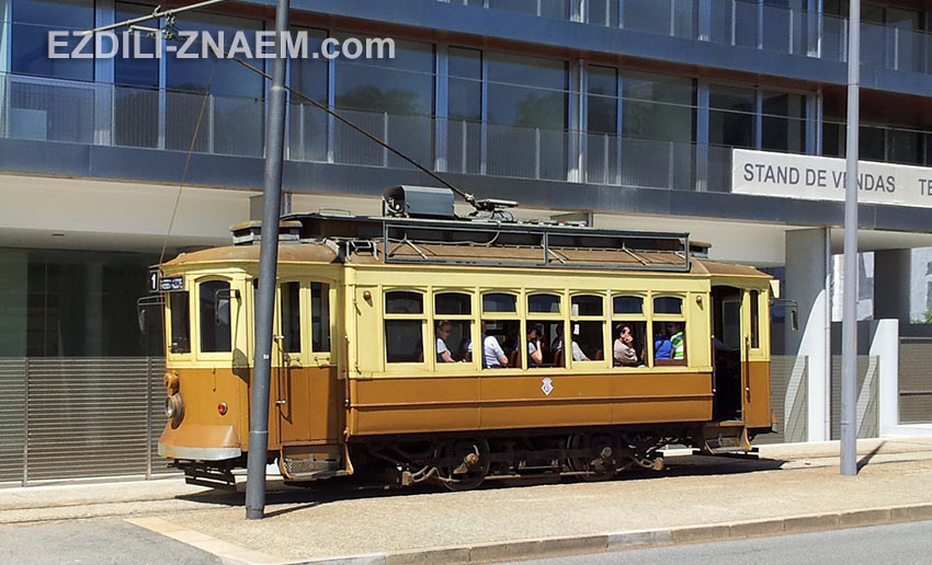 трамваи в Порту не совсем транспорт, скорее аттракцион