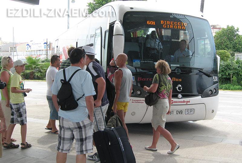 автобусы в Испании