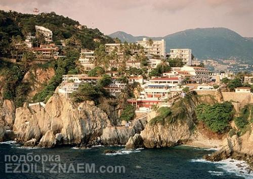 Пригород Акапулько в Мексике