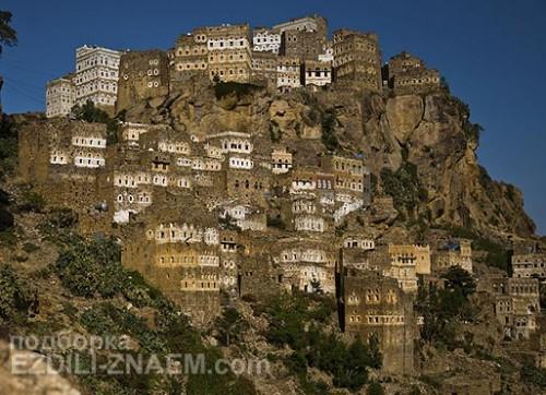 Город Al Hajjara в Йемене