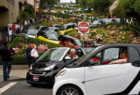 Самая кривая улица города Сан-Франциско