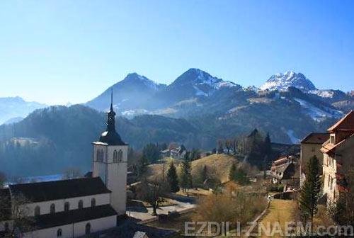 Грюйер, город в Швейцарии