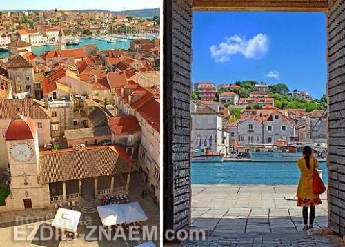Красивый город Трогир в Хорватии, Европа