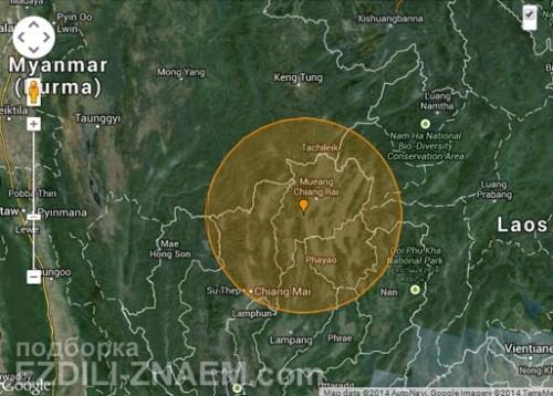 землетрясение в Тайланде. Чианг Май