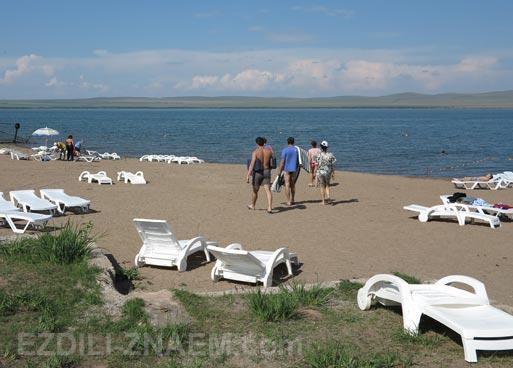 Отдых на озере Шира в августе