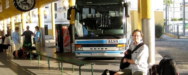 на автобусах ALSA по Испании