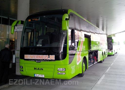 автобус Meinfernbus в Европе