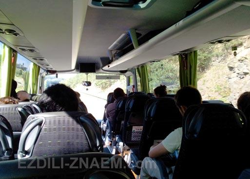 В салоне автобуса Meinfernbus. Поездки по Европе