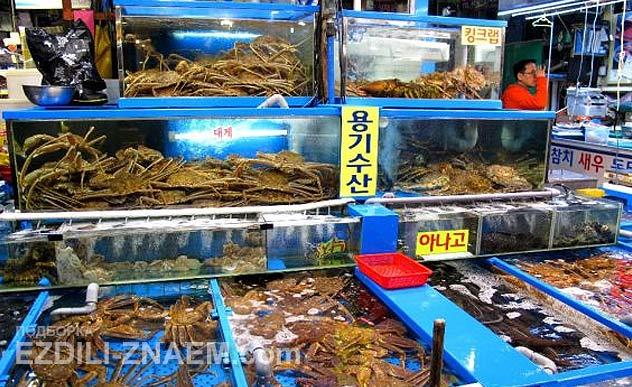Морепродукты в Сеуле