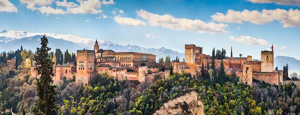 Гранада, Альгамбра, Сьерра-Невада