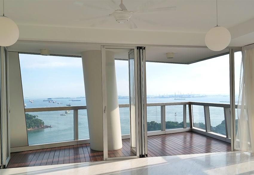 аппартаменты в одной из башен на Кеппель Бэй в Сингапуре