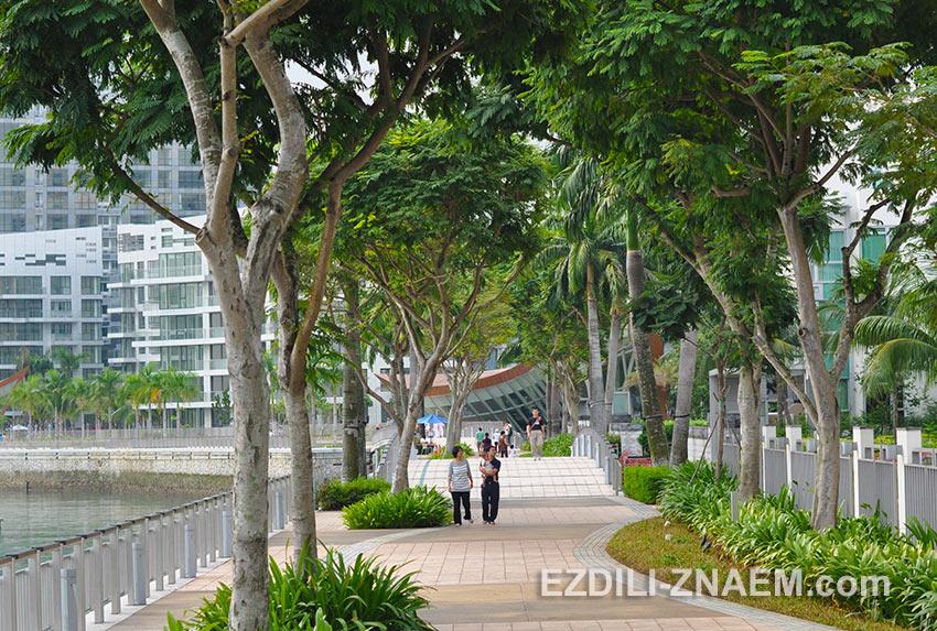набережная в Кеппель Бэй в Сингапуре