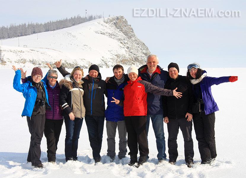 Финиш маршрута по Байкалу - фото на память.