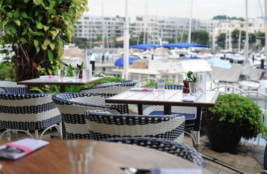 Ресторан на острове Кеппель, Сингапур