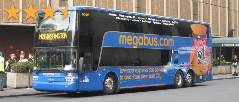 Автобус MegaBus из Нью Йорка