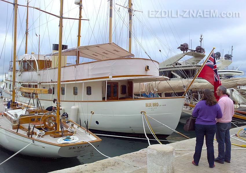 """Яхта """"Bluebird"""" - настоящая достопримечательность в Сан-Тропе. Ретро"""