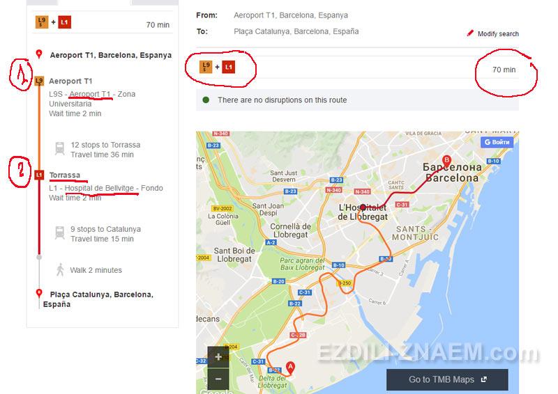Как ездить на транспорте Барселоны