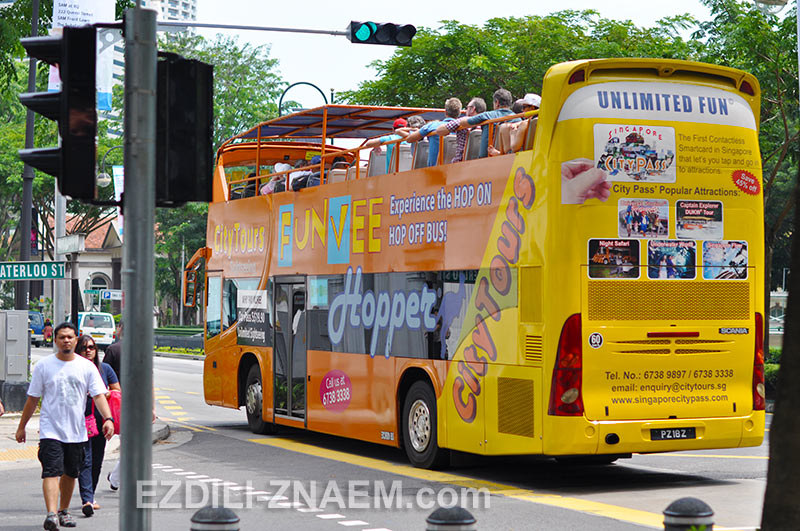 автобусы Hop-On, Hop-Off в Сингапуре