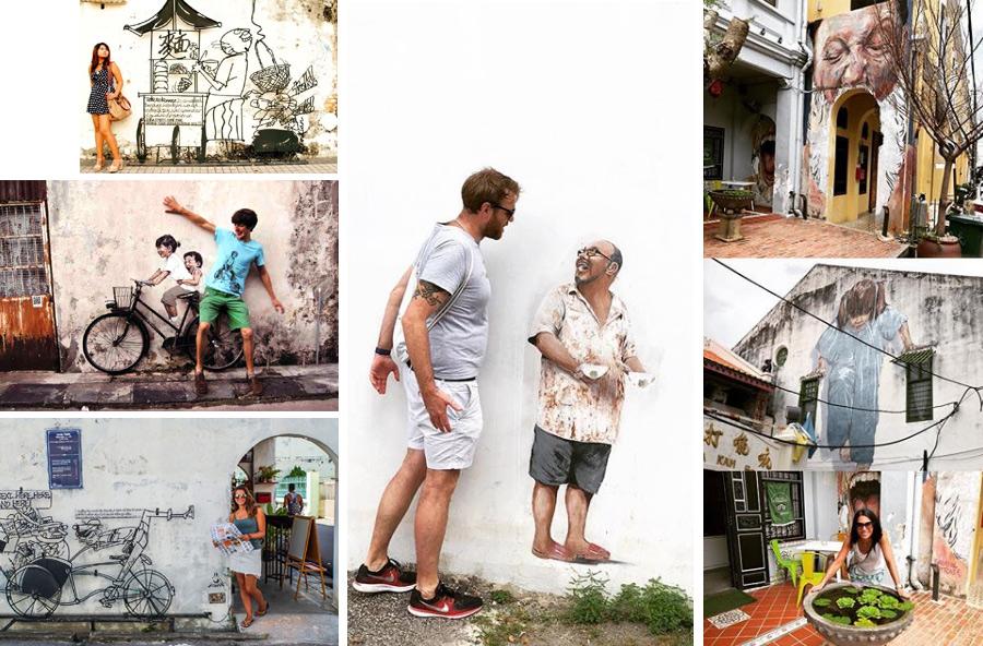 Остров Пинанг, стрит арт на улицах Джорджтауна