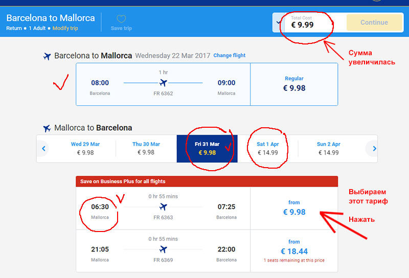 Покупка авиабилетов авиакомпании Ryanair