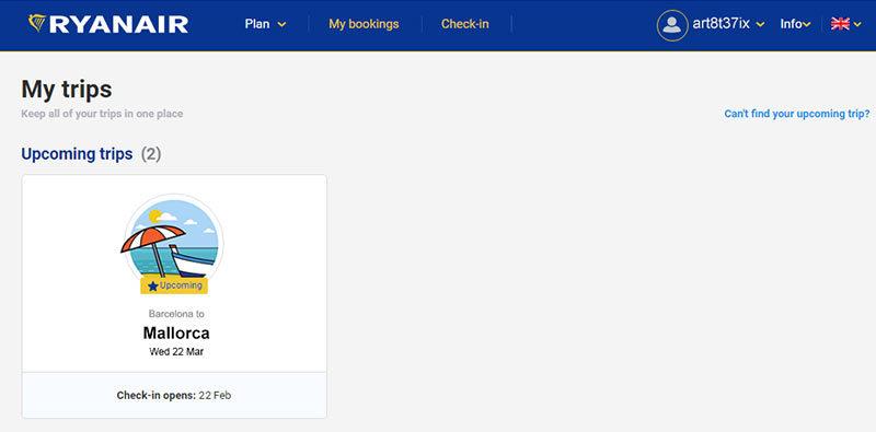 Как регистрироваться на рейс Ryanair